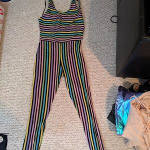 Xs pastel striped jumpsuit